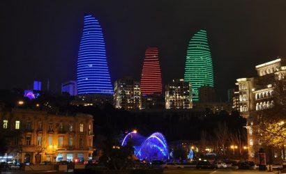 Азербайджан Баку Огнените кули
